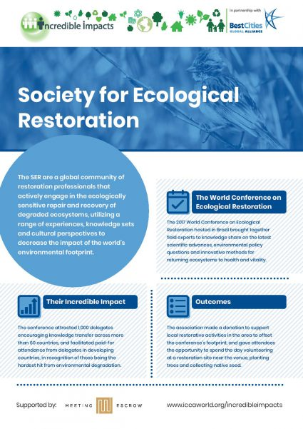 BestCities Incredible Impacts Society for Ecological Restoration